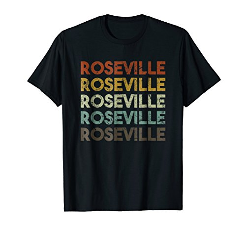 Roseville, CA - Retro Vintage City Shirt ()