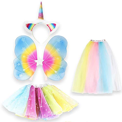 Unicorn Outfit for Girls Dress Up Includes Unicorn