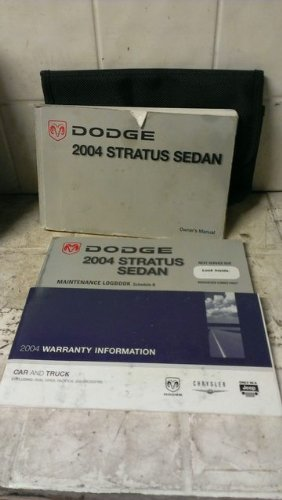 Stratus 2004 Owners Dodge Manual (2004 Dodge Stratus Sedan Owner's Manual)