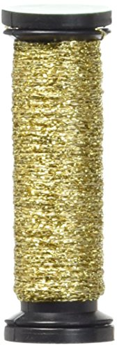 Kreinik No.4 Very Fine Metallic Braid Trim, 11m, Gold - Gold Metallic Braid