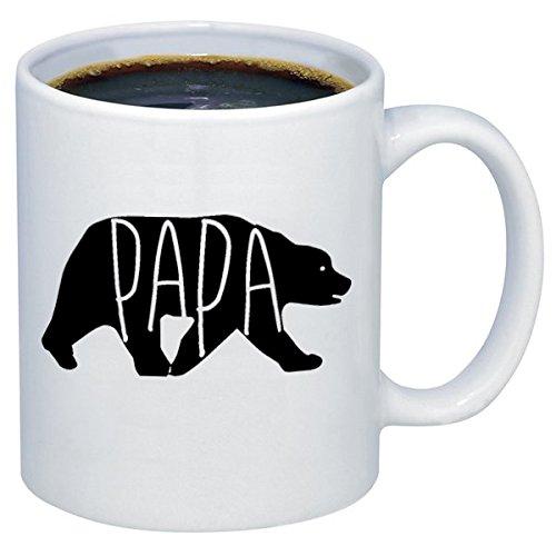 P&B Papa Bear Happy Father's Day Gift for Dad or Grandpa Ceramic Coffee Mugs M311 (11 oz.)