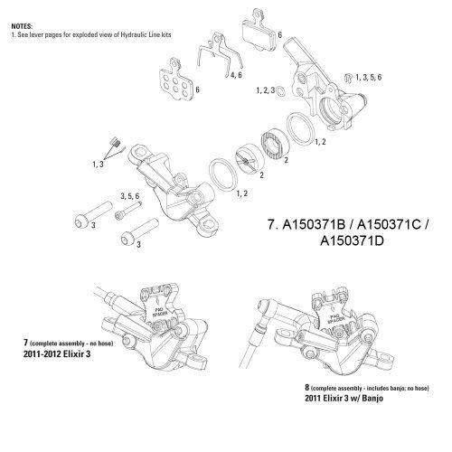 Avid Bremssattel Montage (74 mm), 12 elixir-3 (grau) EA von Avid