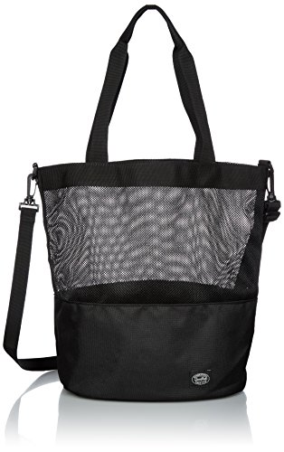 Snow Peak Active Mesh 2way Shoulder Bag, Black, One Size ()
