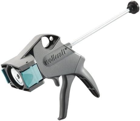 Wolfcraft 4355000 4355000-1 Pistola mecánica MG 300 con función Anti Goteo automática, para Cartuchos de 310 ml, Negro
