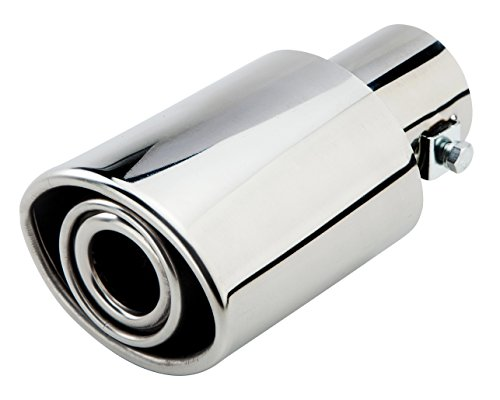 SaiDeng Stainless Steel Exhaust Tips 51mm Inlet Dia Flat Oval Exhaust Muffler Pipe Modified Tail Throat A161