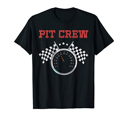 (Pit Crew T Shirt Race Car or Truck Theme Birthday Party Tee)