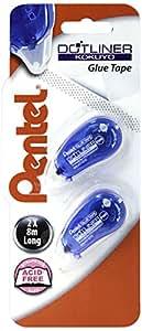 Pentel XERD47/2-C - Cinta adhesiva transparente, 2 unidades