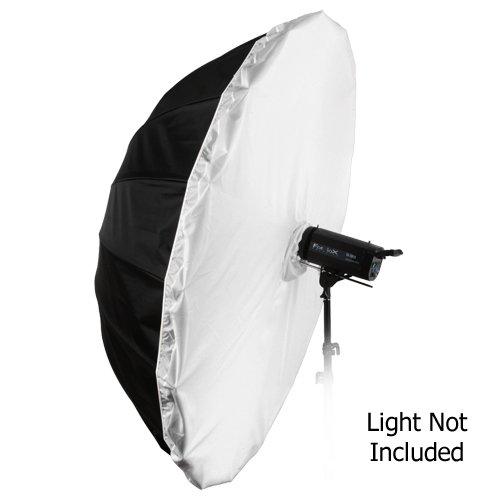 Fotodiox Pro 16-Rib, 72'' Black and Silver Reflective Parabolic Umbrella with Neutral White Diffusion Cover by Fotodiox (Image #3)