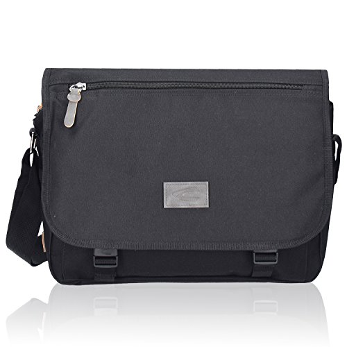camel active London Messenger Umhängetasche Aktentasche 35 cm black