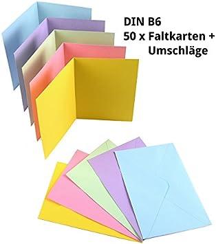 aus 18 Farben wählen verschiedene Mengen Faltkarten DIN A5