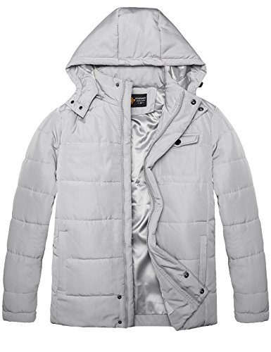Coat Men Gray Long Jacket Hoody Thick Sleeve COOFANDY Quilted Casual Lightweight Warm dPRqv1v