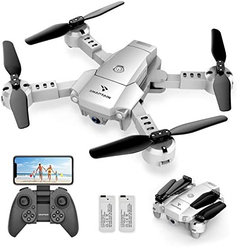 SNAPTAIN A10 Mini Foldable Drone with 720P HD Camera FPV WiFi RC Quadcopter w/Voice Control, Gesture Control, Trajectory Flight, Circle Fly, High-Speed Rotation, 3D Flips, G-Sensor, Headless Mode