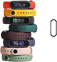 Pulseiras de relógio TwiHill para Mi Band 6 2021, pulseira de silicone de estilo clássico Correia de relógio p