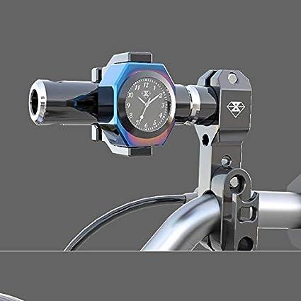 FairOnly Vie Pratique Thermom/ètre de Guidon pour Moto pour Piaggio HON-DA SUZU-KI Yama-HA Argent