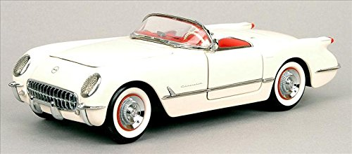 1953 Corvette Diecast Model Car in Polo White by The Franklin Mint in 1:24 Scale (Collectible Mint Franklin Cars)