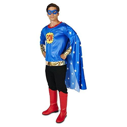 Pop Art Comic Super Hero Man Adult Costume XL (Adult Super Hero Costume)