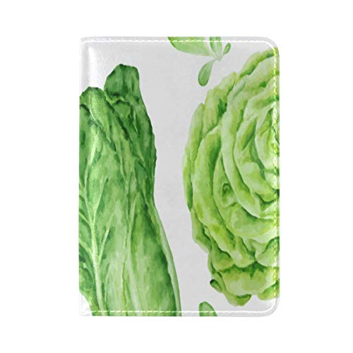 Passport Cover Case Cabbage Vegetable Winter Food Creative Leather&microfiber Multi Purpose Print Passport Holder Travel Wallet For Women And Men 5.51x3.94 ()