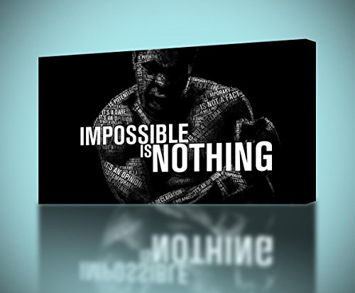 Muhammad Ali Nothing Impossible Canvas Print Home Wall Decor Giclee Art Regular