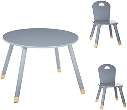 Set Table Douceur Grise 2 Chaises Douceur Grises Atmosphera