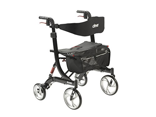 Drive Medical Heavy Duty Nitro Euro Style Walker Rollator, Black by Drive Medical (Image #7)