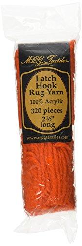 Latch Hook Rug Yarn  -Bright Orange