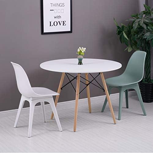 Homemania Carina Chaise, Polypropylène, Blanc, 46 x 82,5 x 53 cm, Lot de 2
