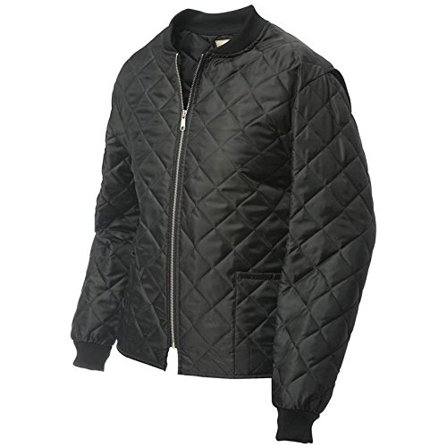 Work King Men's Quilted Freezer Jacket, Black, - Jacket Quilted Work