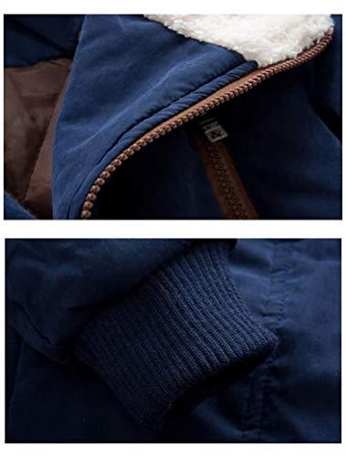 Mallimoda Boy's Thick Cotton-Padded Parka Jacket Hooded Fleece Coat Navy 7-8 Years