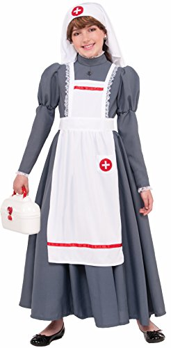 Forum Novelties 77758 Kids Civil War Nurse Costume, Medium, Multicolor, Pack of 1 -