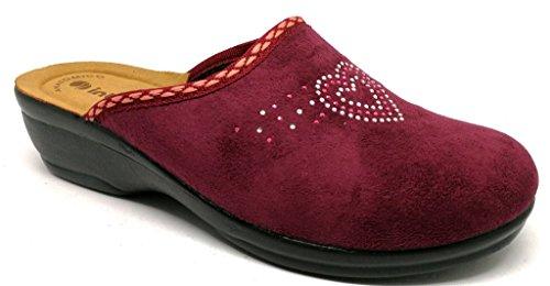 Inblu pantofole ciabatte invernali da donna art. BJ-69 prugna