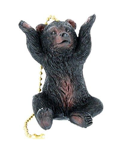 Jumbo Black Bear Ceiling Fan / Light Pull - Touchdown Bear Cub Lodge Cabin Decor ()