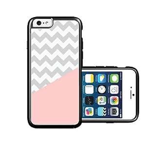 RCGrafix Brand Coral Grey Chevron iPhone 6 Case - Fits NEW Apple iPhone 6