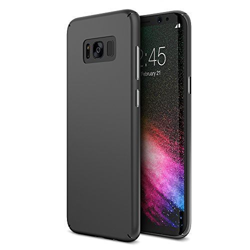 Cover Slip Anti Protective (Maxboost Galaxy S8 Case mSnap [Perfect Fit] [Black] Samsung Galaxy S8 Case Anti-Slip Matte Coating for Excellent Grip Thin Hard Protective PC Snap Case Covers for Samsung Galaxy s8 2017 - MB000097)