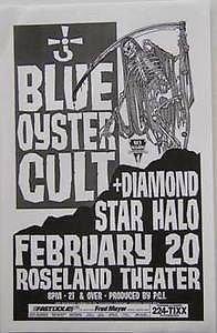 Blue Oyster Cult Godzilla Star Hero Rare Portland Oregon Concert Tour Gig Poster from ConcertPosterArt