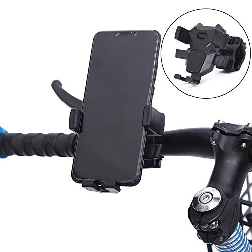 - charmsamx Bike Phone Mount, 360°Rotation Bicycle Phone Holder, Universal Premium Bike Phone Mount Holder for Motorcycle Holder, Adjustable Handlebar Anti Shake and Stable (Black)