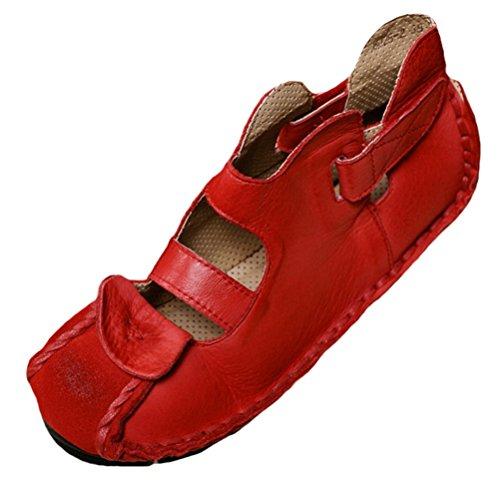 Casuali Tacco Nuove Vogstyle Donna Basso Rosso Scarpe Stile Sandali 1 H4nan7q