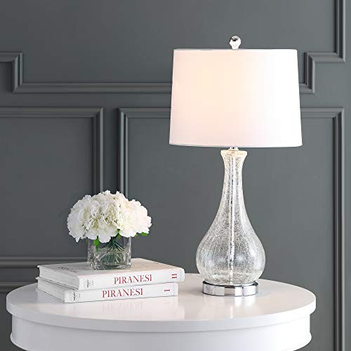 Safavieh TBL4206A Lighting Collection Finnley Clear and Chrome 27.5-inch Table Lamp ()