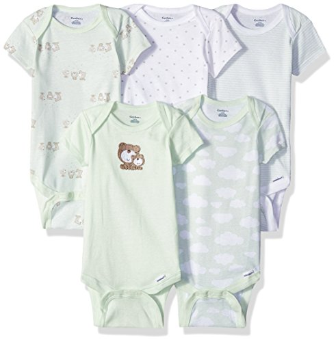 - Gerber Baby Girls' 5-Pack Variety Onesies Bodysuits, Teddy Bear, Newborn
