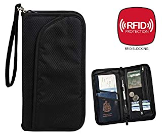 Maple Leaf RFID Blocking Travel Organizer Wallet, Black, International Carry-On (B010UZDFJW) | Amazon Products