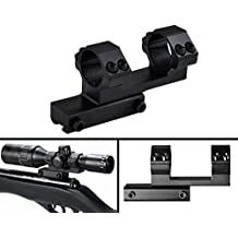 "Ultimate Arms Gear 1"" Inch Tube Aluminum Flat Top Base One Piece Cantilever Dual Double Gun Scope Ring Offset 3/8"" Dovetail Mount, For Red Dot Sights, Optics, Ruger 10/22 10-22 .22 Cal rifle"