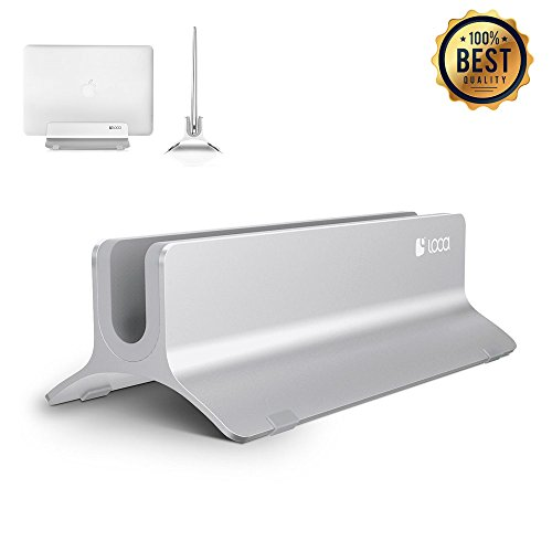 Vertical Laptop Stand, LOCA Aluminium Desktop Stand for Apple MacBook, notebooks (Silver) by loca