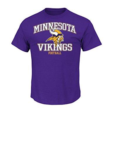NFL Minnesota Vikings Men's Greatness Short Sleeve Basic Tee, Medium, Regal Purple
