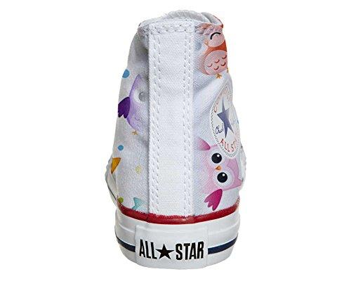 Converse All Star Hi Personnalisé et Imprimés chaussures coutume, Sneaker Unisex (produit Italien artisanal) Tiny Owls