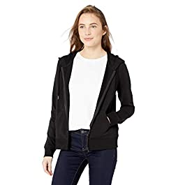 Amazon Brand – Daily Ritual Women's Terry Cotton and Modal Full-Zip Hooded Sweatshirt