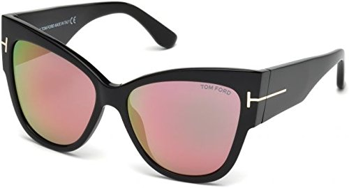 Sunglasses Tom Ford FT 0371 Anoushka 01Z shiny black/gradient or mirror violet