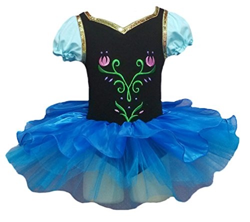V28 Girls Ballet Tutu Dress Multi Styles (5-6 Years, Anna Style)