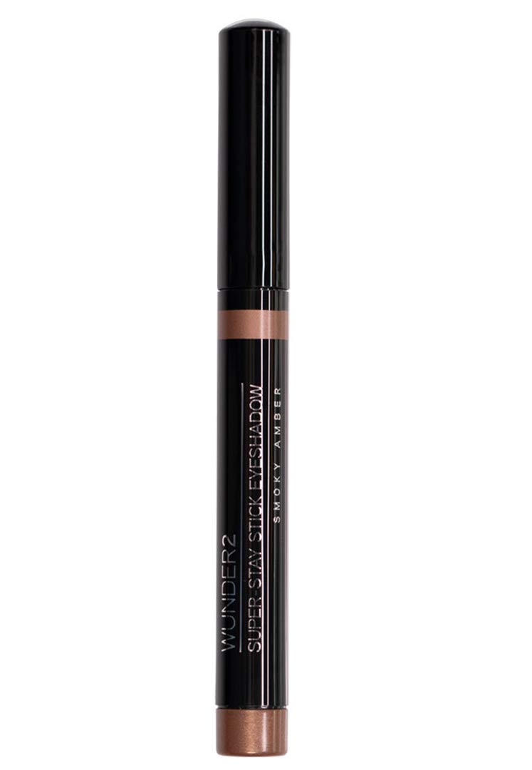 WUNDER2 Super-stay stick eyeshadows- smokey amber- long lasting, waterproof eye makeup in 8 neutral trendy shades with enough shimmer for everyday wear