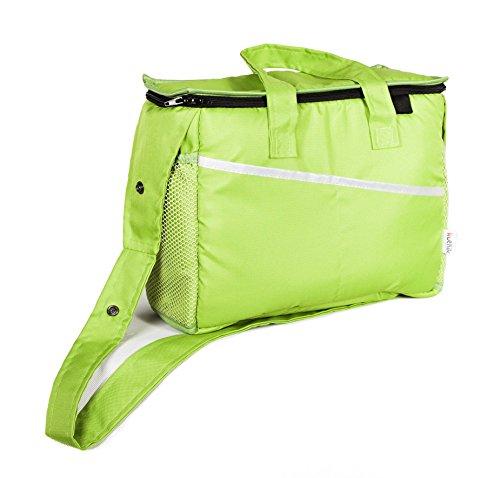 Kutnik Bolsa cambiador multifuncional para cochecitos - Verde kiwi