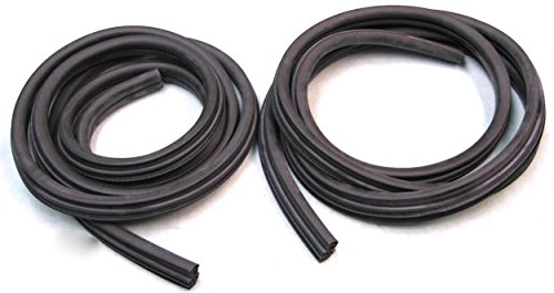 (APDTY 140004x2 Body Mounted Rubber Door Weatherstrip Seal Fits Left & Right 1999-2014 Ford F250 F350 F450 F550 Regular or Crew Cab Super Duty Pickup 2000-2005 Excursion (Replaces 3C3Z-2520708-AA))