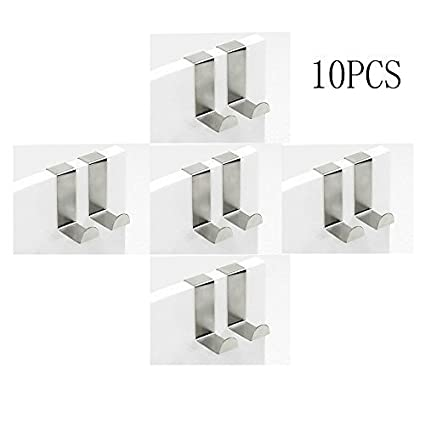 Amazon Hooks Doopootoo Set Of 10 Over Door Hooks Stainless